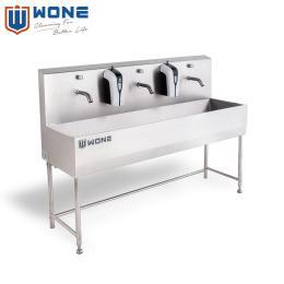 三工位不锈钢洗手池 食品厂房车间厨房 员工洗手池