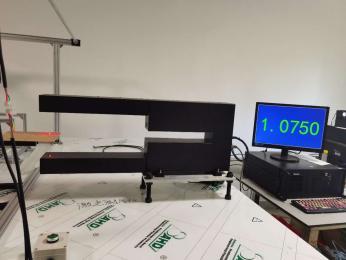 鳳鳴亮鈦合金箔片非接觸厚度在線檢測儀