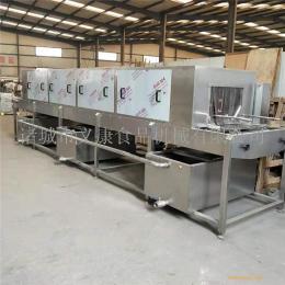 三段喷淋洗筐机 土豆筐清洗机 饲料盒清洗设备 义康制造