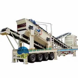 建筑垃圾移动式破碎站 流动式鹅卵石制砂机 移动破碎筛分设备