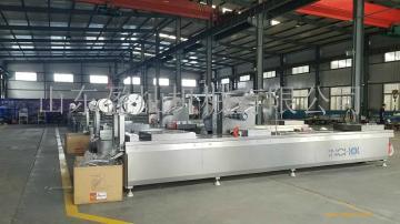 拉伸膜真空包装机山东盈灿机械全自动包装一体化包装机生产厂家