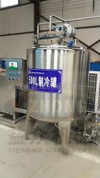 卫生级牛奶制冷罐,乳品保鲜设备,低温储奶罐