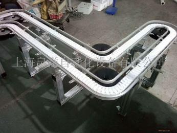 牛奶灌装机配套456585105宽柔性塑料链板输送线