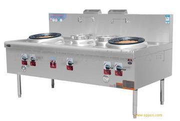 西安厨房设备 商用天然气双炒双温灶