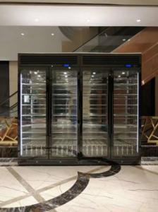 不锈钢酒柜家用定制恒温酒架嵌入式商用电子冷藏柜轻奢红酒柜