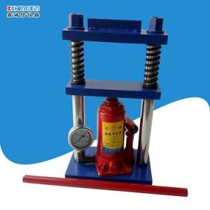 实验室用小型手动液压粉末压片机千斤顶压饼机10T油压制样机直销
